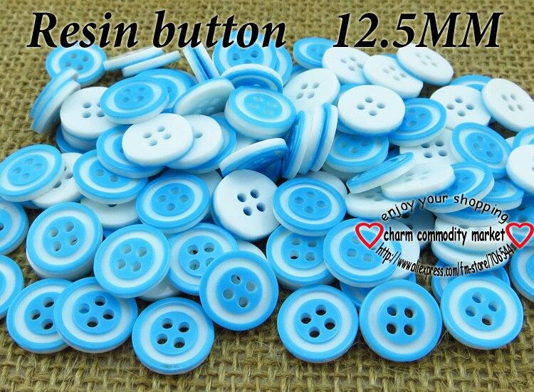 ᐂ150 pz kid anello blu colore pulsante resina camicia abbigliamento
