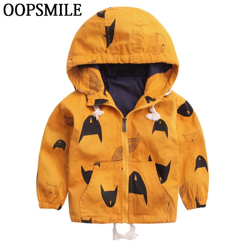 Cartoon Pattern Baby Boy Girl Jacket Autumn Fashion Brand Kids Outerwear & Coats Boys Clothes Children Windbreaker Kids Jackets стоимость