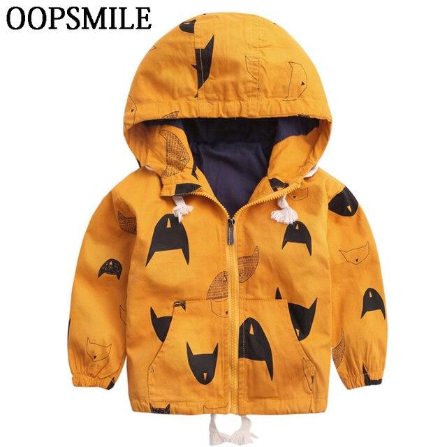 4bf578bc5 Cartoon Pattern Baby Boy Girl Jacket Autumn Fashion Brand Kids Outerwear & Coats  Boys Clothes Children