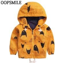 Cartoon Pattern Baby Boy Girl Jacket Autumn  Fashion Brand Kids Outerwear & Coats Boys Clothes Children Windbreaker Kids Jackets