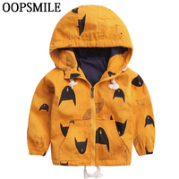 Cartoon Pattern Baby Boy Girl Jacket Autumn Fashion Brand Kids Outerwear Coats Boys Clothes Children Windbreaker