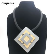 Empress Female exaggerated necklace, can DIY customized aluminum made of soft Foam. Necklace XL007