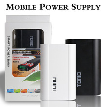 TOMO High Quality Portable Dual usb DIY LCD power bank 2/4×18650 battery case box Kit 2A 18650 battery charger with LCD Display