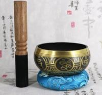 Tibetan Sing Bowl Nepalese Buddhist Tibetan Chanting Yoga Meditation Bowl Buddhist Sound Therapy Bowl Copper Religion Carft LF04