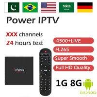 Sofobod TV Box Adult IPTV US Indian Canada Pakistan Dutch IPTV Amlogic S905W H.265 WiFi Android OS Smart TV Box KO MAG250 1G/8G
