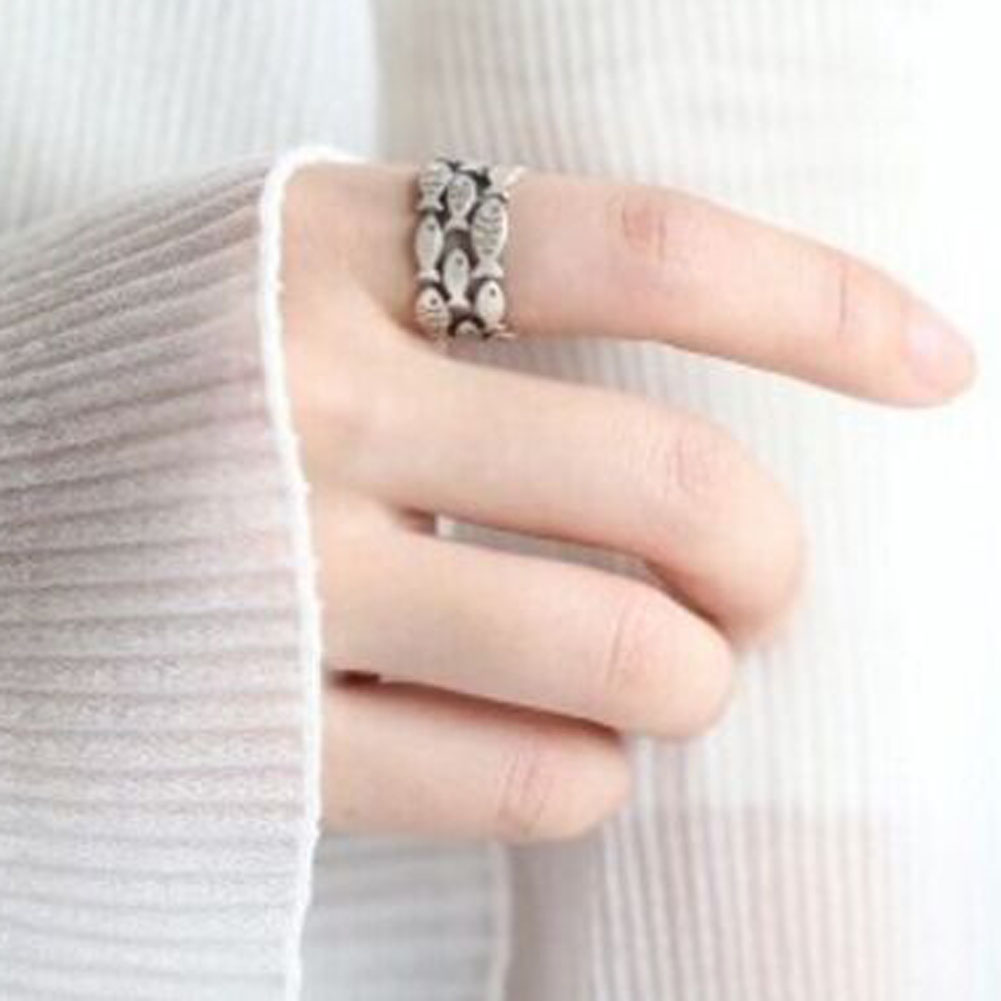 2017 new fashion Fish Rings for Women Adjustable Wedding Ring Fashion Girls Gift personalized and beautiful rings