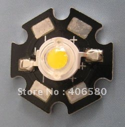 3W High Power Warm White LED with heat sink 500pcs/lot free shipping