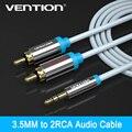 Original vention aux cable 1 m 2 m 5 m jack para 2rca cabo de áudio de 3.5mm macho para a apple para o iphone para tablets para PC