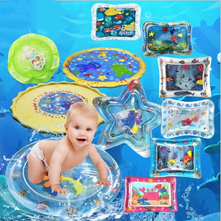 Gonflable bébé tapis d'eau infantile ventre temps tapis de jeu enfant en bas âge activité amusante Center de jeu pour la stimulation sensorielle, motricité