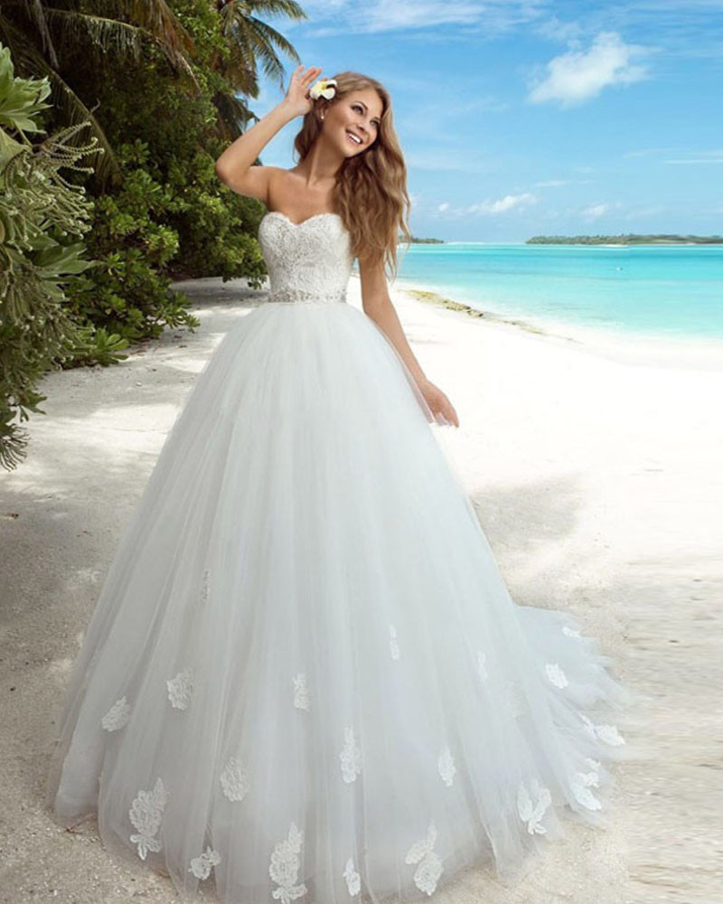 Wedding Dressing Gowns Personalised: Casamento Custom Made Vintage Lace Beach Wedding Dresses