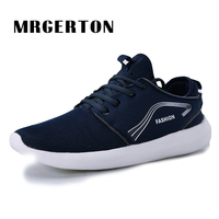 Running Shoes Men Athlete Sneakers Breathable Trendy Sport Shoes Black Red Blue Zapatillas Mujer Deportivas MR31508