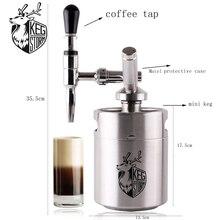 64OZ 2L Nitro Coffee Maker KEG STORM 304 Stainless Steel Mini keg Bar Accessories Portable Homebrew Kits