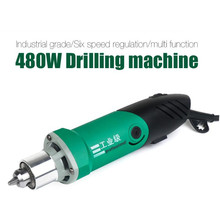 Dremel Style 480W Electric Mini Drill engraver with 6 Position Variable Speed for Rotary Tools