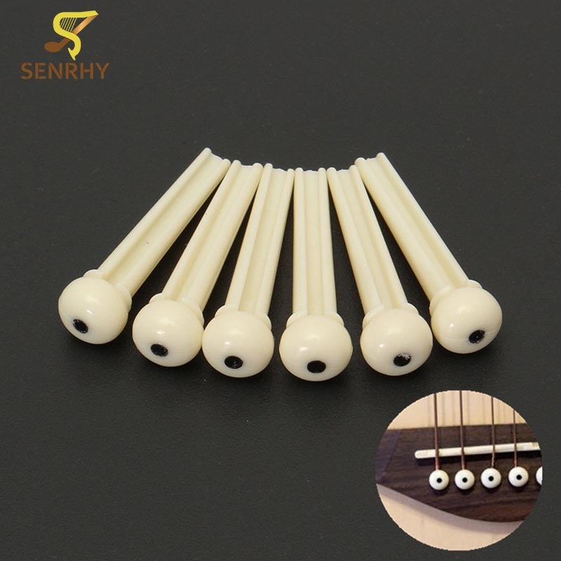 US $1 15 22% OFF|SENRHY 12Pcs/set Plastic String End Ivory Guitar Bridge  Pins for Musical Stringed Instruments Guitar Parts & Accessories Hot-in
