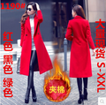 2016 de Lana de Las Mujeres Mezclas Escudo Abrigos de Algodón acolchado Delgado prendas de Vestir Exteriores Verde Rojo Y Negro De Algodón Acolchado 1190