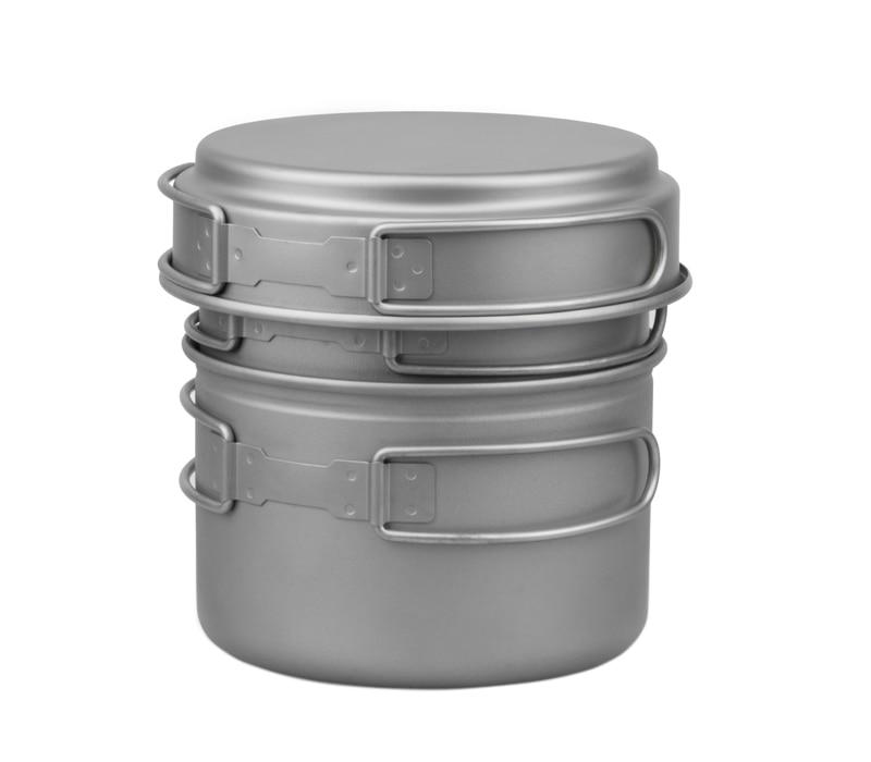 2 Person Titanium Pot Camping Cookware Set Picnic Pot  FMC-DP2 color picnic set