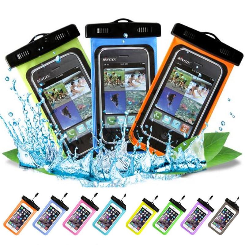 100 teile/los Universal Handytasche Für iPhone X 8 8 Plus 7 7 Plus Samsung Huawei Telefon Fällen eine Einfache Wasserdichte Handy taschen Abdeckung - 5