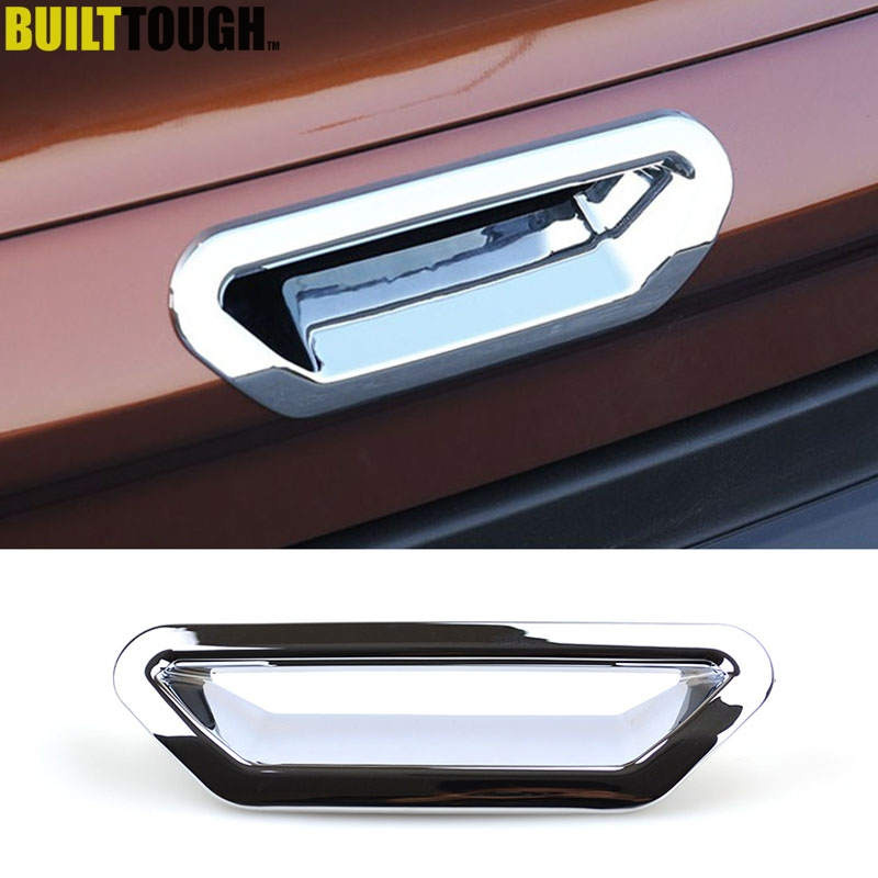 ABS Chrome Co-pilot Storage Box Handle Cover Trim For Ford Kuga Escape 2013-2017