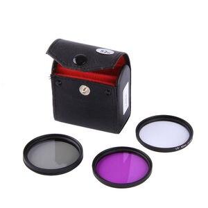 Image 2 - 5in1 49mm 52mm 55mm 58mm 62mm 67mm 72mm 77mm UV CPL FLD Filter Set KIT+  Lens Hood+Lens lens cover For Sony Pentax Nikon Canon