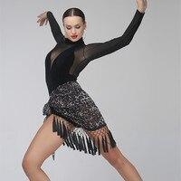 latin dance skirt woman salsa skirt samba costume latin practice wear dance wear women Hip scarf dance costumes leopard tassel