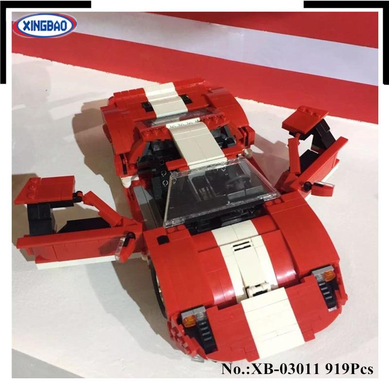 RAKTÁRON XingBao 03011 919Pcs Valódi kreatív MOC technikai sorozat A vörös fantom versenyautó szett Építőelemek tégla