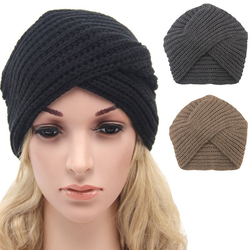 Detail Feedback Questions about Winter Hats For Women Crochet Twist Cap  Solid Color Turban Hat Casual Warm Knitted Wool Beanie on Aliexpress.com  1a9475e6d5bf