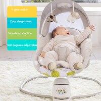 Babyfond детское кресло качалка детские электрическая колыбель кресло качалка успокаивает ребенка артефакт спит в колыбель для новорожденных