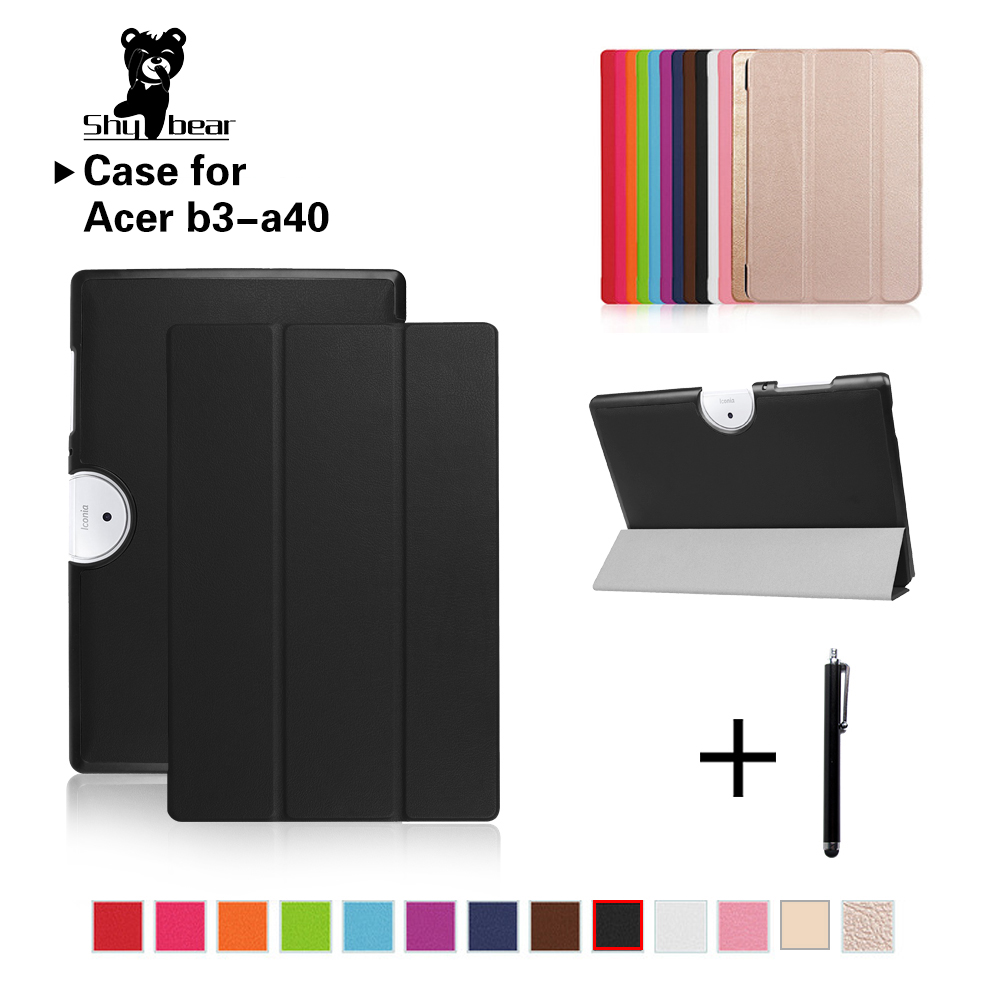 f2856e698bcf5 Leather Case For Acer Iconia One 10 B3 A40 Luxury Folio Color Printing  Cover Case For Acer Iconia One B3 A40 10.1   Stand Case-in Tablets    e-Books Case ...