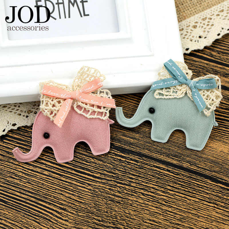 JOD Gajah Kartun Pin Lencana untuk Tas Pakaian Bros Pin Lencana Kerah Pin Wanita DIY untuk Jaket Pink Bahan Kain