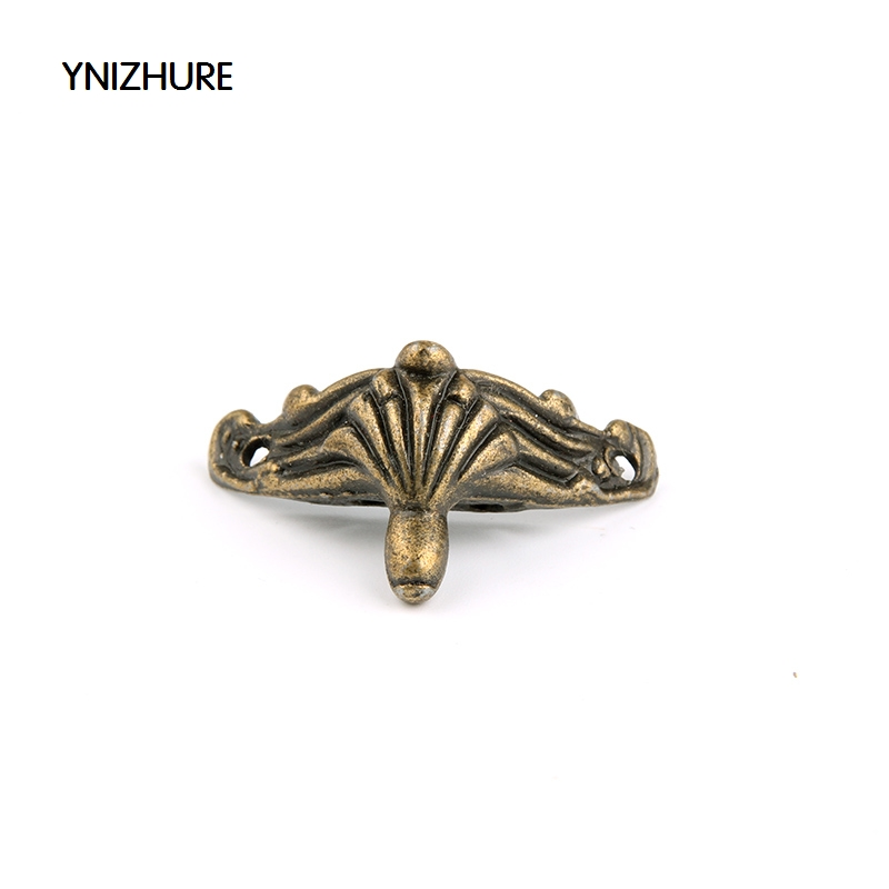 Rushed 50pcs 35*21mm Imitation Bronze Small Feet Zinc Alloy Foot Wooden Boxes Decorated Furniture Legs Supporting Corner