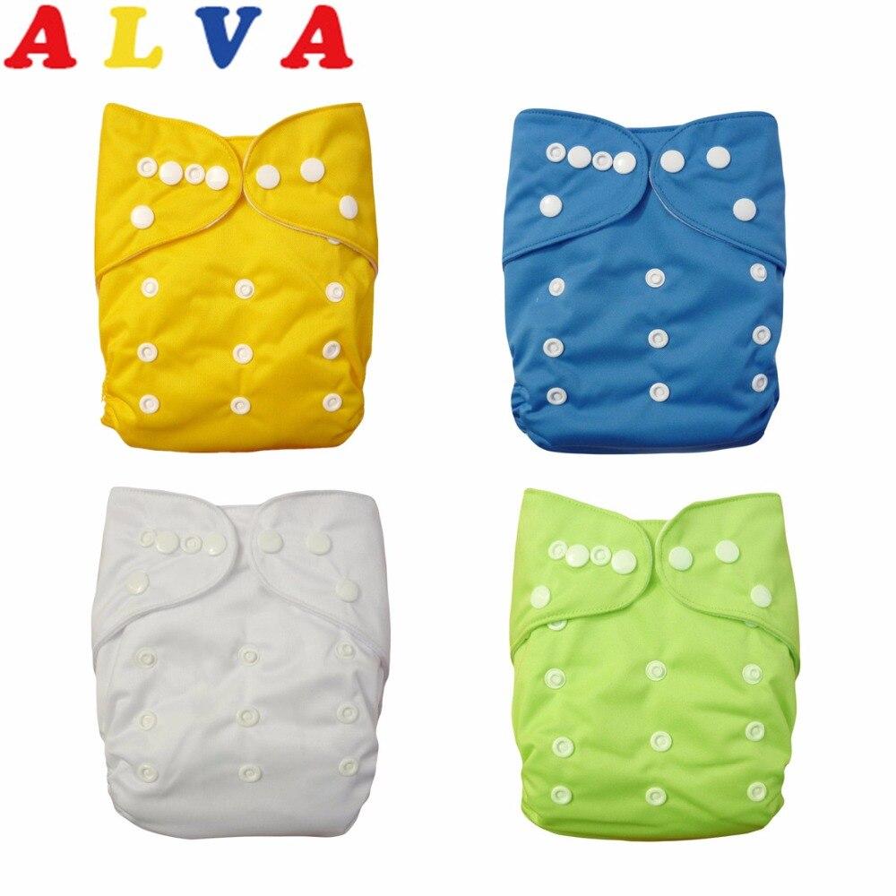 1 шт. alvaby многоразовый простой карман пеленки моющиеся детские подгузники ткань пеленки унисекс с микрофиброй вставка