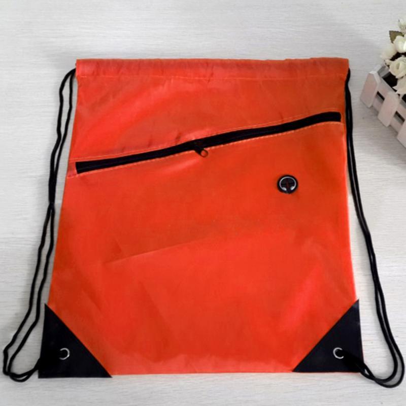New Men Women Drawstring Bags Swimming Beach Bag Exercise Backpack Sack Bag Small Slot Riding Backpack Gym Shoes Bag #928
