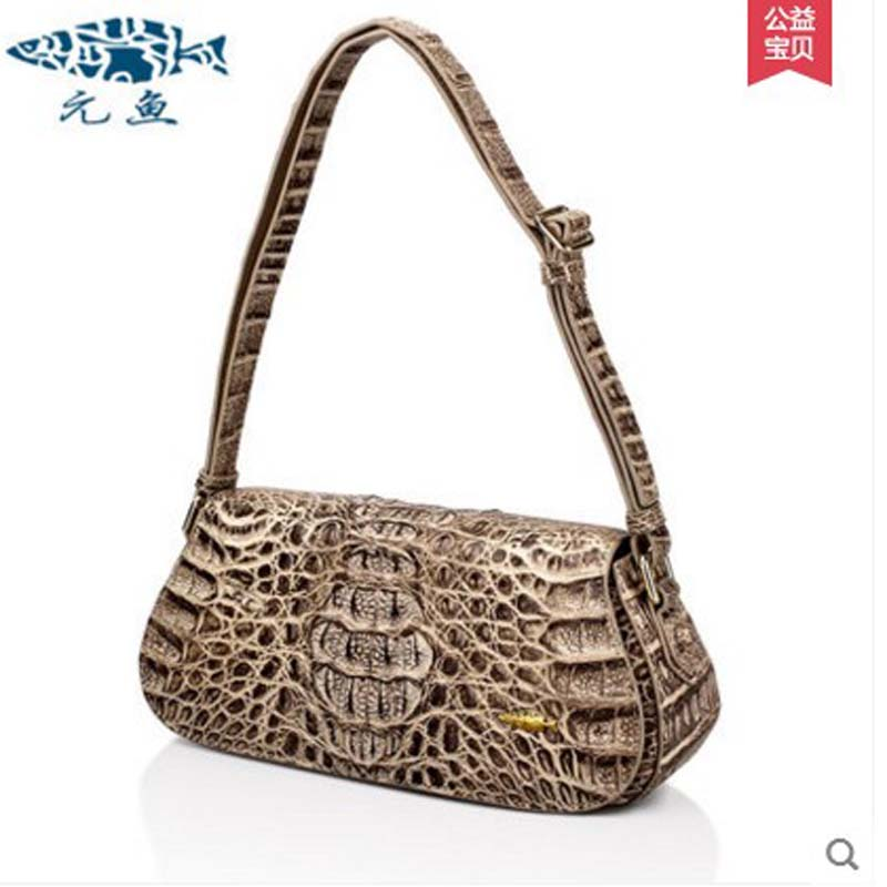 yuanyu 2017 new hot free shipping new import real crocodile single shoulder women bag leisure small women bag yuanyu 2017 new hot free shipping crocodile women handbag single shoulder bag large capacity high end female bag