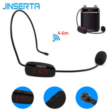 JINSERTA FM Wireless Microphone Headset Megaphone Radio MIC For Loudspeaker Teaching Tour Guide Voice Amplifier Microfones