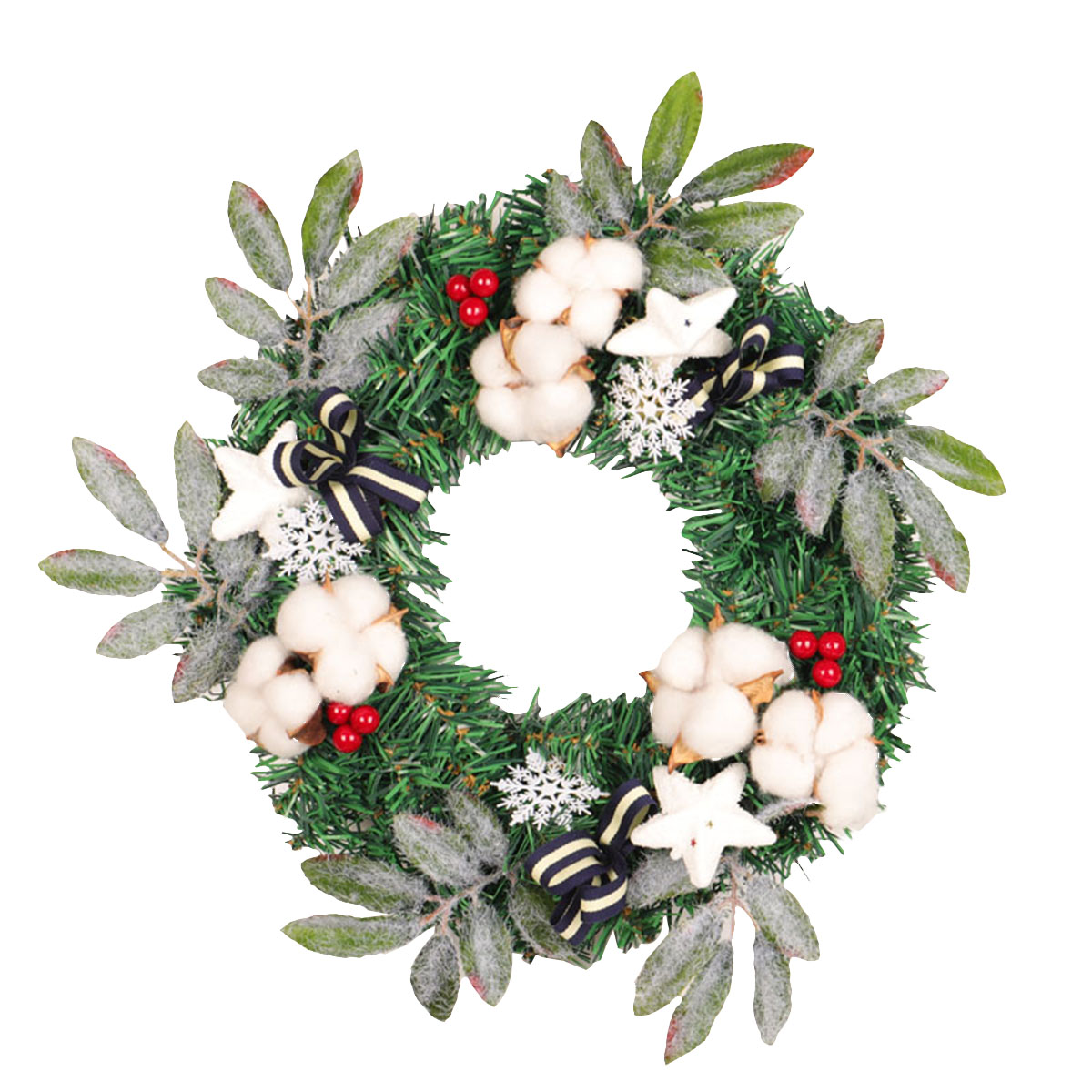Artificial Handmade Exquisite Ornament Garland Holiday Christmas Pine Cones for Front Door Wall Mantelpiece Window Office