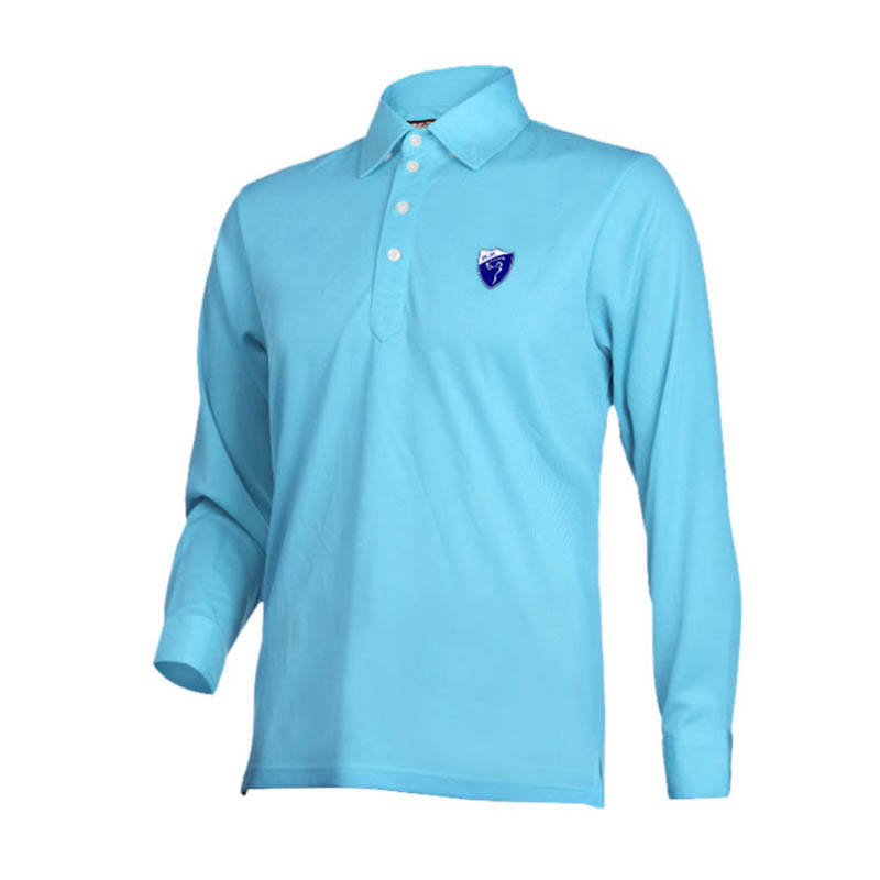 PGM Brand Men Golf Shirt Breathable Long Sleeve Turn-down Collar Polo Shirt Golf Clothing Men Quick Dry Golf Trainning Supplies