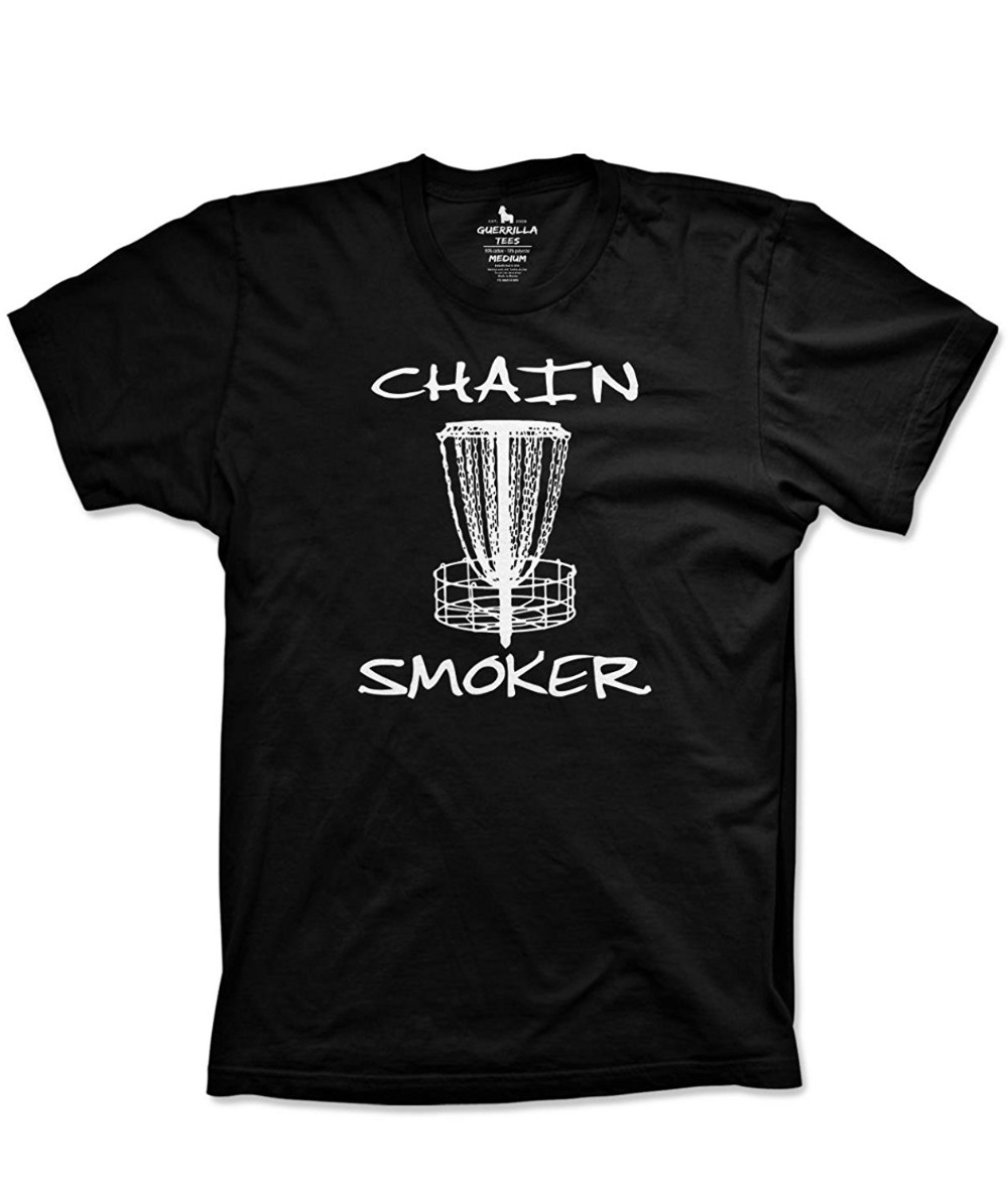 Disc Golfing Funny Chain Smoker Shirt Frisbee Golfing Summer Tshirts Print Summer Tops Tees