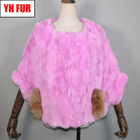 New Style Girls Rex Rabbit Fur Pashmina Genuine Real Rex Rabbit Fur Poncho Scarf Women Warm Soft 100% Real Rex Rabbit Fur Shawl