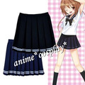 Japanese College Girls School Uniform Short Cute Sailor Solid Pleated Mini Skirt