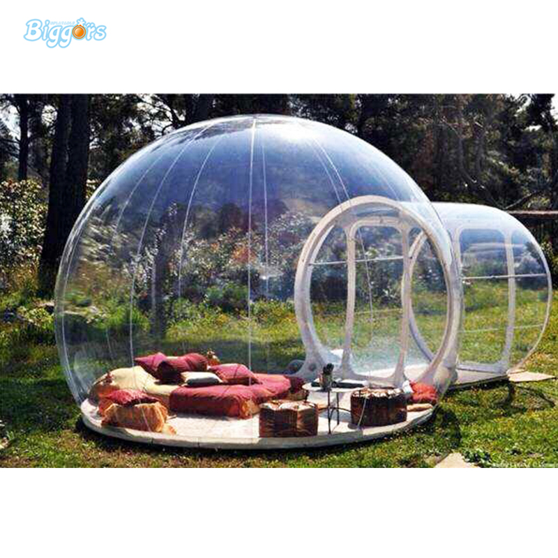 Inflatable hot selling transparent bubble tent Inflatable camping tent Inflatable bubble tent with blowers