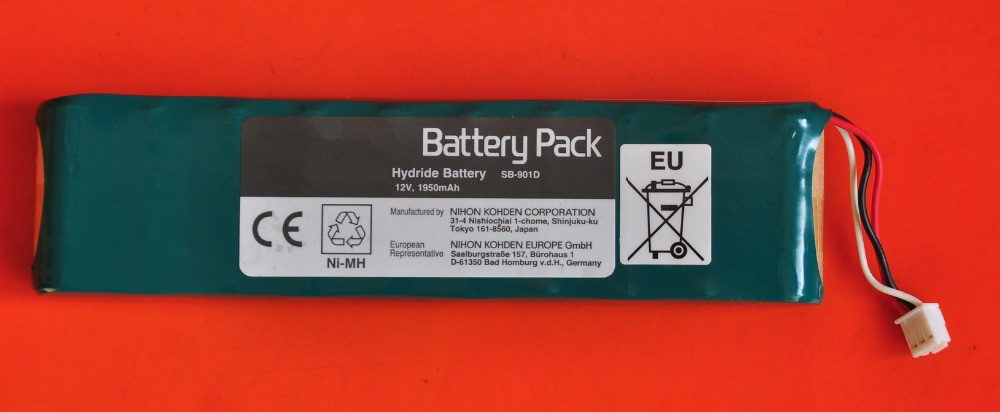 Original NEW SB-901D For ECG-9620 ECG-9620P ECG-1250C 6951E 12V 1950mah defibrillator rechargeable battery gametrix kw 901