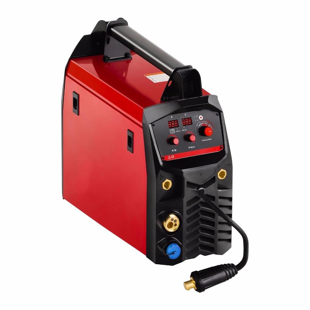 IGBT Digitale Synergie MIG MAG MMA TIG Kombiniert Schweißer VRD Multi Prozess Schweißen Ausrüstung 225A Synergic MIG MAG Schweißen Maschine