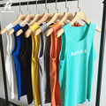 2017 nueva playa de verano sin mangas de los hombres sin mangas sólido camisa de la manera impresión de la letra la semana chaleco del o-cuello casual brand clothing lw445