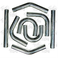 MOFE Racing 8PCS 2 5 Universal Turbo Intercooler Piping Kit Chrome Aluminum Pipe