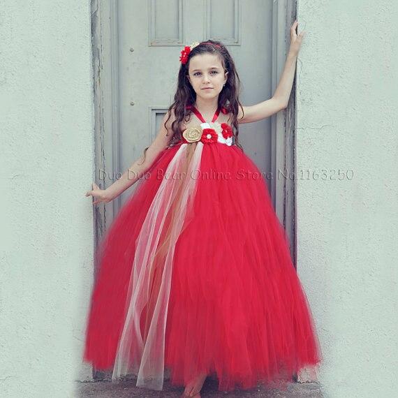 fddc297d08d68 Mode Infantile Princesse Bébé Robe Rouge 1er Anniversaire Tutu Mignon  Enfant Bébé Fille D'anniversaire Robes D'hiver Partie Filles Vêtements dans Robes  de ...