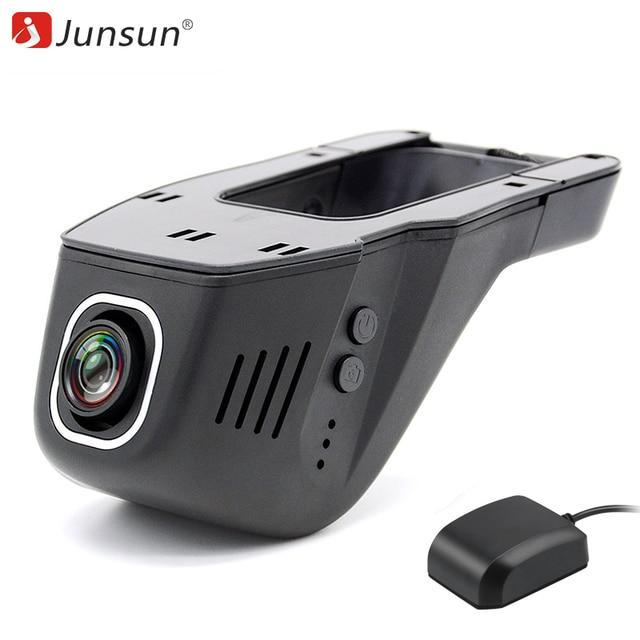 Junsun видеорегистратор Видеорегистраторы регистратор тире Камера Cam FHD 1080 P видео Регистраторы видеокамер Ночь Версия 96655 IMX322 Wi-Fi gps Logger камера
