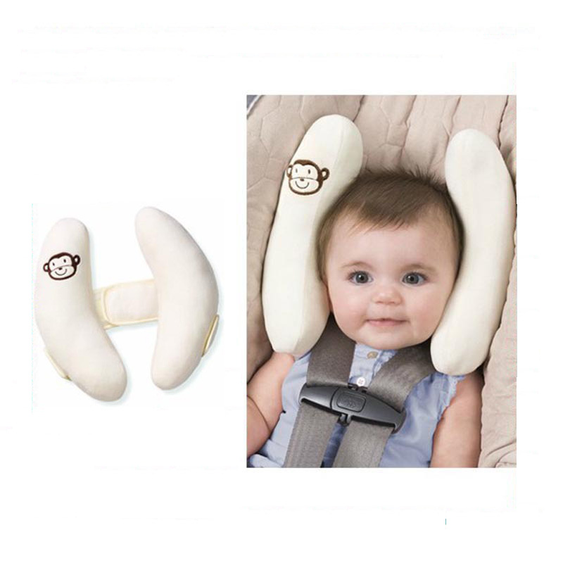 Headrest Baby Infant Car Travel Sleeping Pillow Head Neck Cartoon Seat Covers Pillow Baby Safty  YYT339