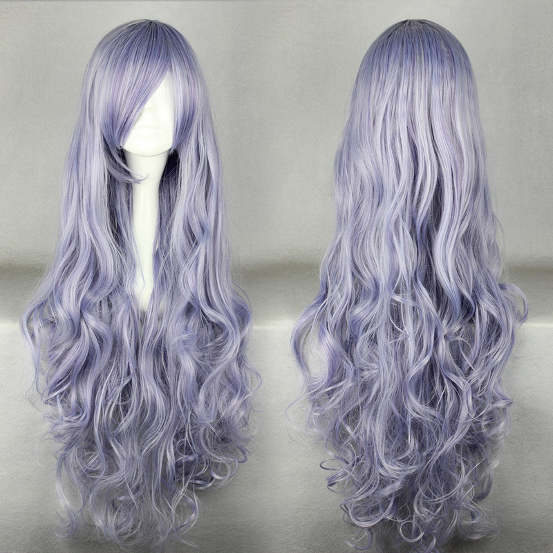 Fashion 90cm Long Curly Rozen Maiden Light Purple Cosplay Costume Wig For  Women Girl f01bedf9d