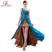 Free Shipping 1pc Lot Grace Karin Special Beautiful One Shoulder Split Crystals Long Prom Dress CL4407