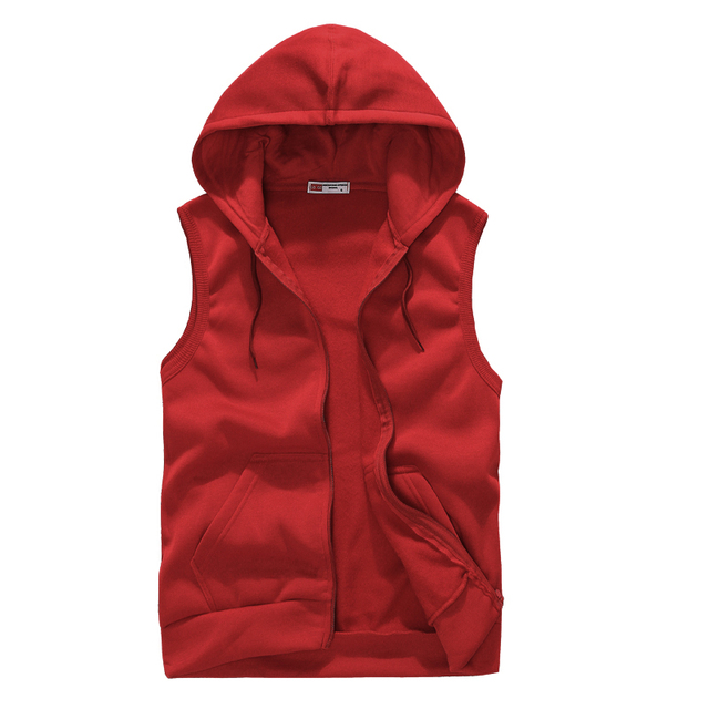 New 2017 Free Shipping and Leisure Zipper Hooded Cashmere Cardigan Vest Men's Clothing Casual Sleeveless Hoodies